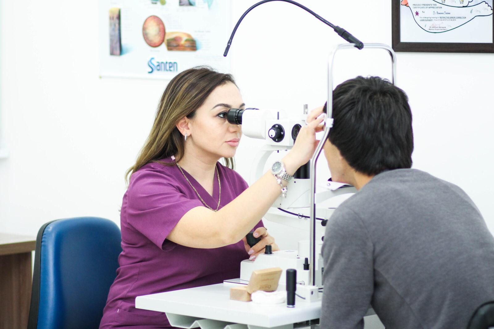 Услуги офтальмолога в медицинском центре Profmed в Ташкенте