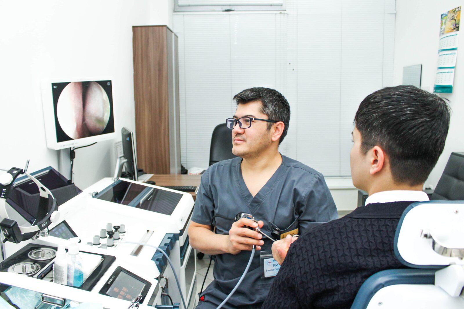 Услуги отоларингологии в медицинском центре Profmed в Ташкенте